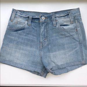 Levi's High Rise Denim Shorts